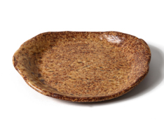 丸皿(茶)