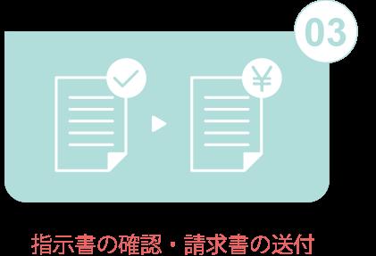 指示書の確認・請求書の送付