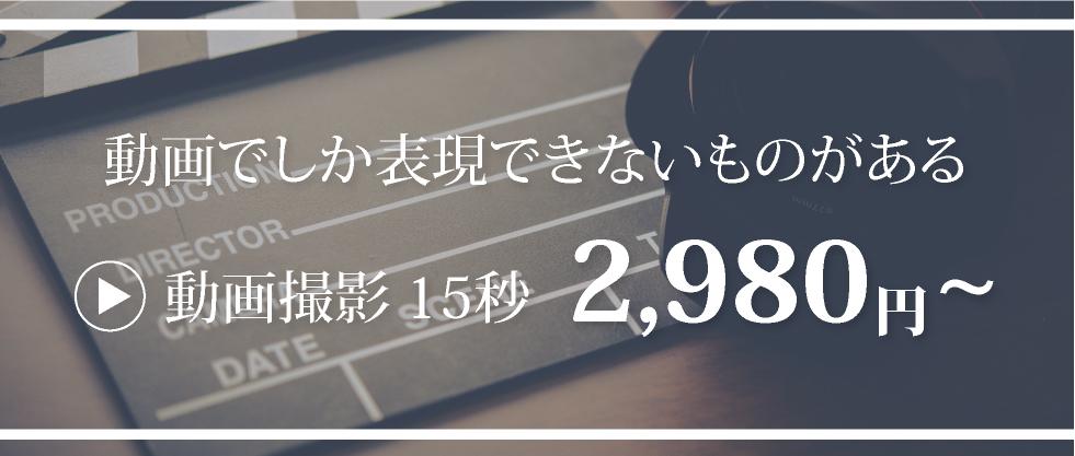動画撮影15秒2,980円~