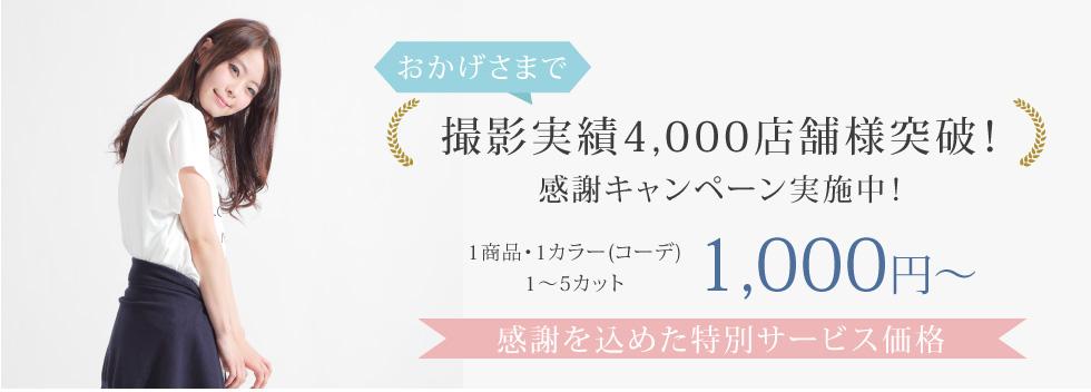感謝キャンペーン1商品1カラー1~5カット1,000円~